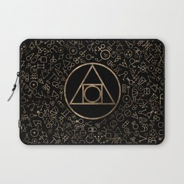 Philosopher's stone symbol and Alchemical  pattern #1 Laptop Sleeve