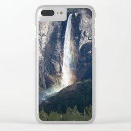 Bridalveil Falls, Yosemite California Clear iPhone Case