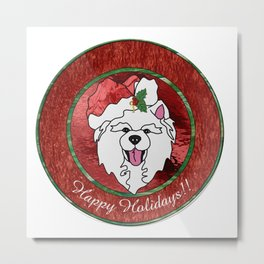 Sammy Claus Holiday Plate Metal Print