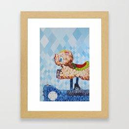 El Cerdofante Volador, The Flying Pigphant Framed Art Print