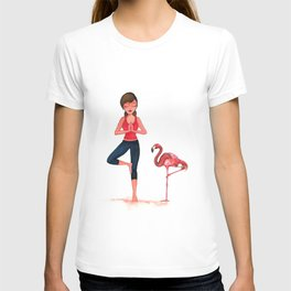 Yoga with nature T-shirt