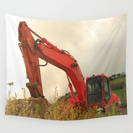 Construction machinery Wall Tapestry