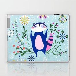 Happy Raccoon Card Laptop & iPad Skin