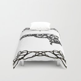 Life industrializes death Duvet Cover