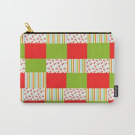red and green  Carry-All Pouch