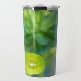 Little Green Flowers Travel Mug