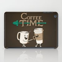 shipping iPad Cases featuring Coffee Time! by powerpig