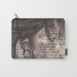 Handwritten letter with portrait Carry-All Pouch