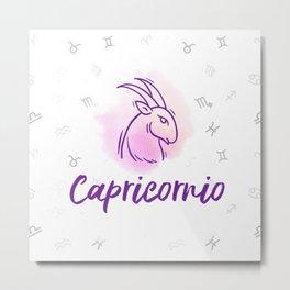 Zodiac signs collection - Capricorn/Capricornio Delvallediseno Metal Print