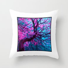 purple tree XII Throw Pillow