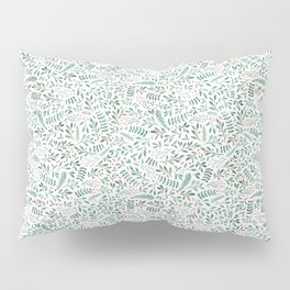 Green Leaves and Red Berries. Pillow Sham