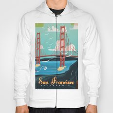 Vintage San Francisco Travel poster Hoody