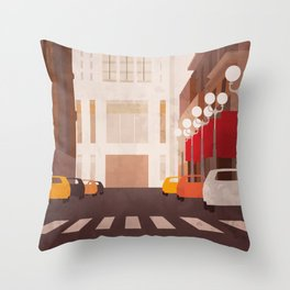 New York Manhattan watercolor Throw Pillow