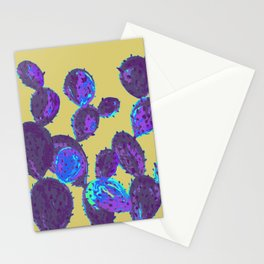 Cactus garden lilac mustard Stationery Cards