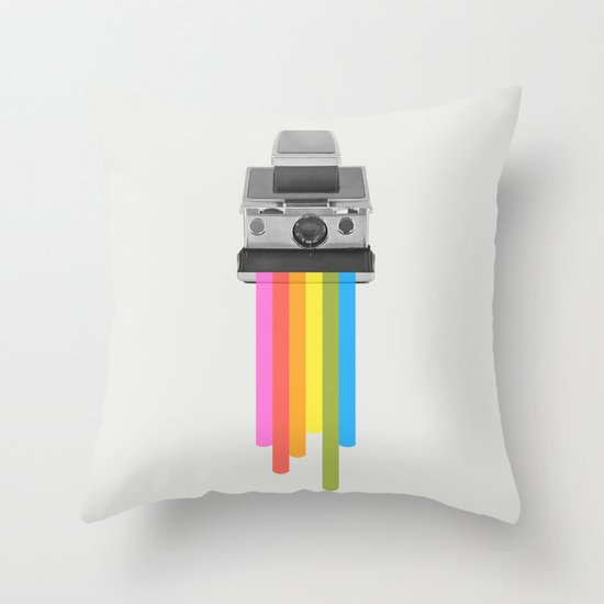 Taste the Rainbow Throw Pillow
