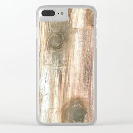 Wood Planks Clear iPhone Case
