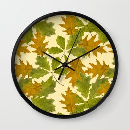 Leaves Camouflage Pattern Wall Clock