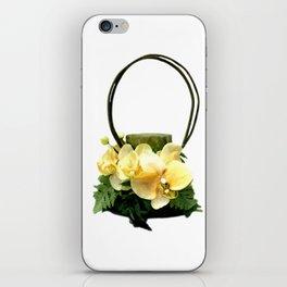 Yellow Orchid Handbag iPhone Skin