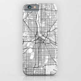 Minneapolis City Map of the United States - Light iPhone Case
