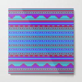 Mexican Aztec ethnic pattern Metal Print