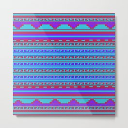 Mexican Aztec ethnic pattern Metal Print