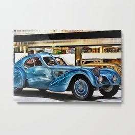 Vintage 1938 French Model Type 57 Atlantic Sports Coupe Painting Metal Print