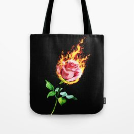 the flame of a rose Tote Bag