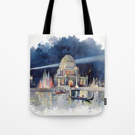 White City at Night, Chicago World's Fair of 1893 Tote Bag