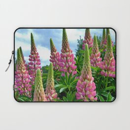 Rose Lupins in the Garden Laptop Sleeve