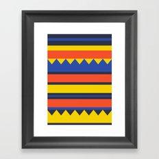 Triangles Jungle Framed Art Print