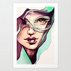 Digital watercolor Art Print