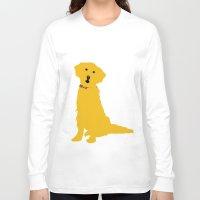 golden retriever Long Sleeve T-shirts featuring Golden Retriever  Dog by ialbert