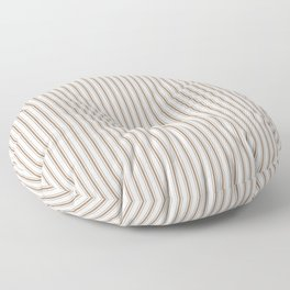 Mattress Ticking Narrow Striped Pattern in Dark Brown and White Floor Pillow