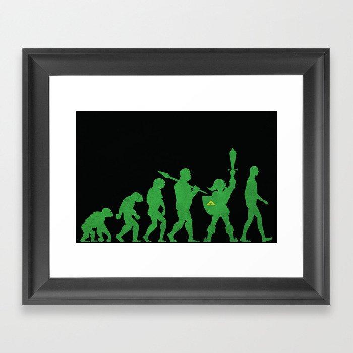 Missing Link Framed Art Print