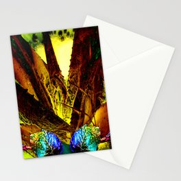 Tropical Abstract Background Stationery Cards