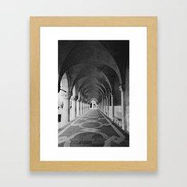 V E N I C E | Black and White Framed Art Print