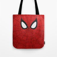 spider man Tote Bags featuring Spider-Man by theLinC