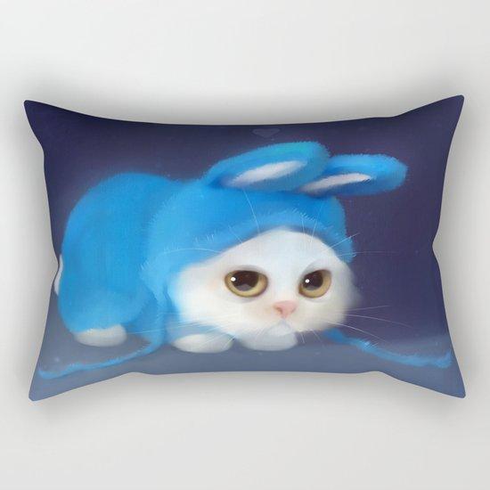 Team Bunny Rectangular Pillow
