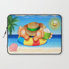 Summer Relax on the Sea Laptop Sleeve