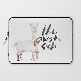 Alpaca with awesome socks Laptop Sleeve