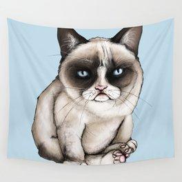 Tard The Original Grumpy Cat Wall Tapestry