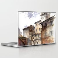 italy Laptop & iPad Skins featuring Cortona, Italy by zawij