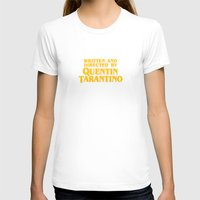 tarantino T-shirts featuring Written and Directed by Quentin Tarantino (yellow variant) by Lucas Preti