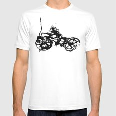 Cyclists Cycle MEDIUM Mens Fitted Tee White