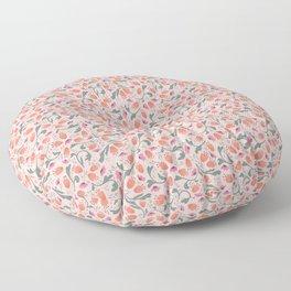 Flower Meadow - Pink Floor Pillow