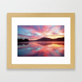 Sunrise: Fire Above and Fire Below Framed Art Print