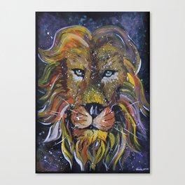 Lion painting, Lion wallart Canvas Print
