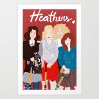 heathers Art Prints featuring Heathers by Ana Maia
