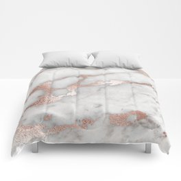 Rose Gold Marble Comforters