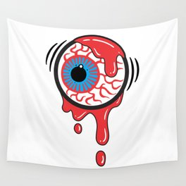 Bloody Eyeball Wall Tapestry
